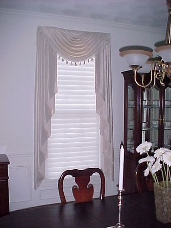 Swags & Jabots in formal dining room