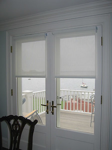 Solar Screen Shades on French Doors