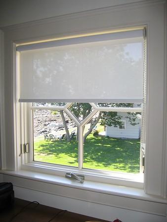 Solar Screen Roller shade in Master Closet window