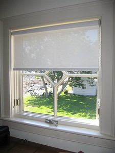 Solar Screen Roller shade in Master Closet window