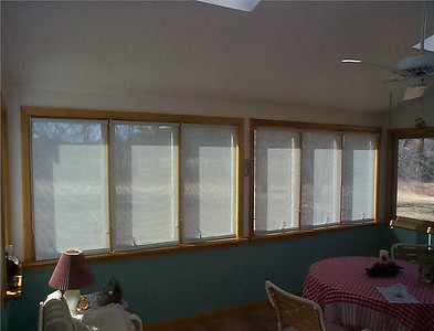 Solar Screen roller shades, fully lowered