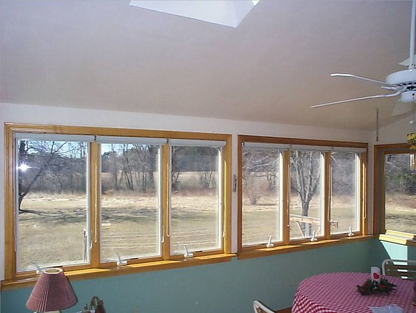 Solar Screen roller shades, raised