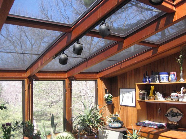 Rectangular Solar Screens to protect plants in Sunroom