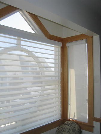 Decorative window treatment . Silhouette Alustra and Sunscreen shades