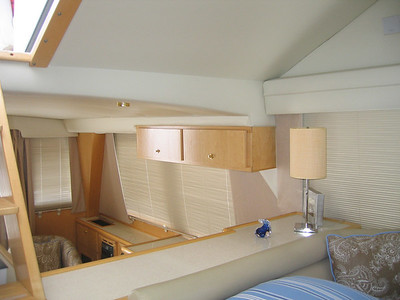 Drapery Panels & Blinds aboard Power Boat
