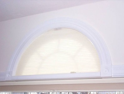 Moveable Arch Duette shade, closed