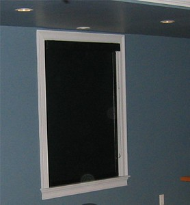 Blackout shade for Media Room