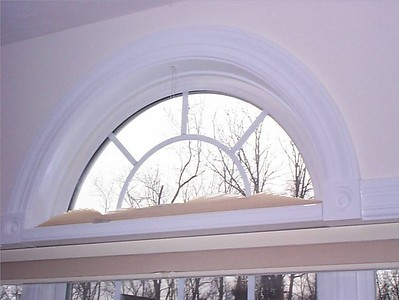 Moveable Arch Duette shade, open