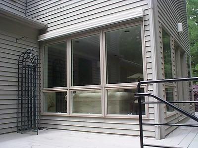 Exterior Solar Screen shade, open