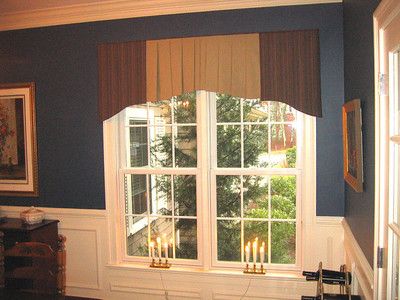 Custom Valance in Dining room