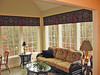 Custom Valances in Sunroom
