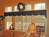 Custom Valance on double sliding doors in Living room