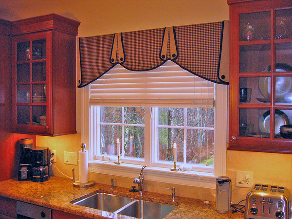 Custom Valance in Kitchen