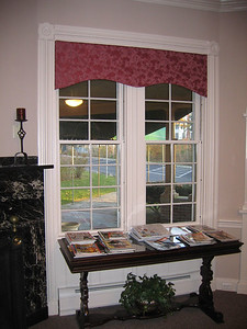 Custom valance mounted inside window recess