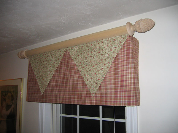 Custom valance on Wood Pole rod