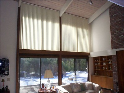 Vertical Blinds on upper window
