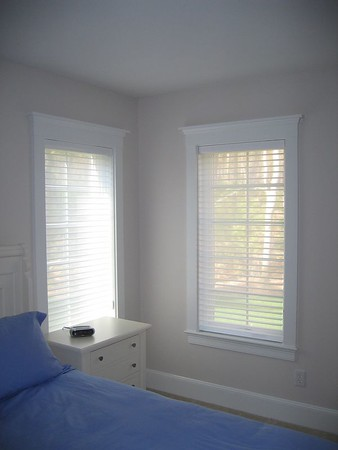 Silhouette Shades lowered for daytime privacy