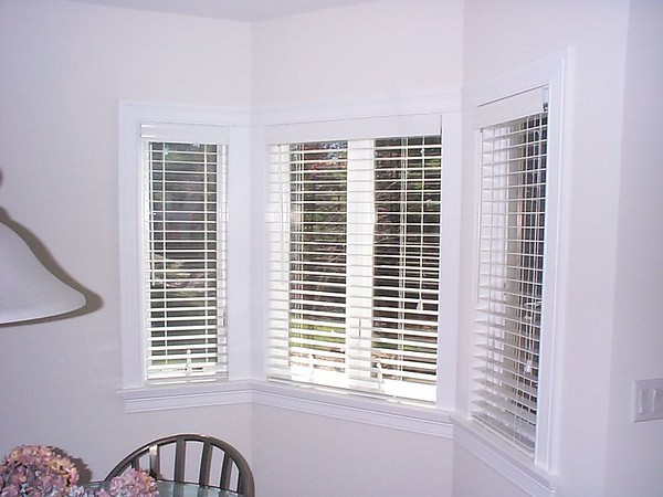 "2"" Wood Blinds on bay Windows."