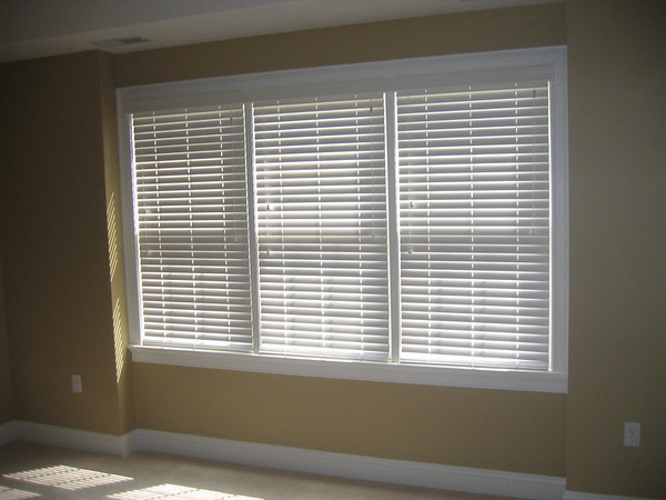 "2"" WoodMate blinds, closed"