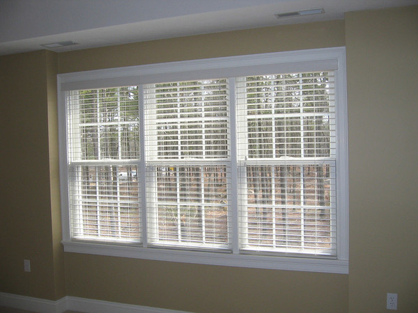"2"" WoodMate blinds, open"