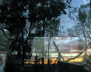 Morris & truck windscreen, Spring Forest 2009 16.5 x 18cm