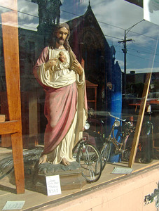 Jesus and his bicycles, Brunswick 2004 24 x 18cm