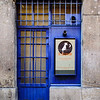 Lovely Blue Restaurant Door - the Strets of Lyon