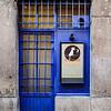 Lovely Blue Restaurant Door - the Strets of Lyon