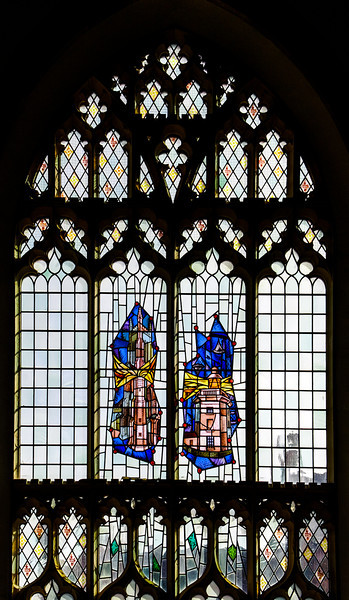 A Stained Glass Window in the Cromer Parish Church