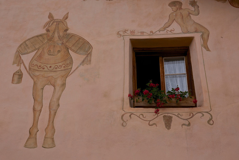 Mules ad cherubs, flowers and grapes . . . .