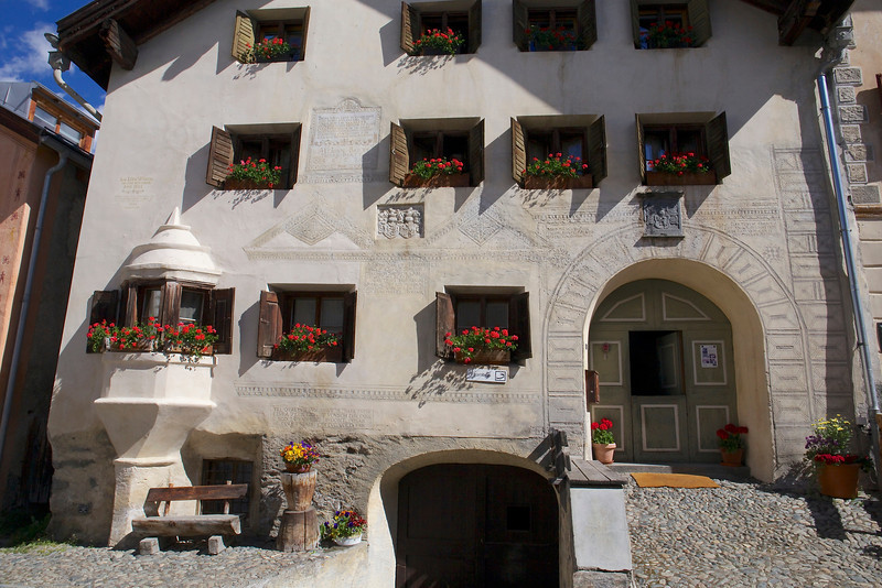 Houses were built for people to live above and animals below, hence upper and lower doors.