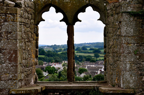 View from Raglan Castle, Wales
