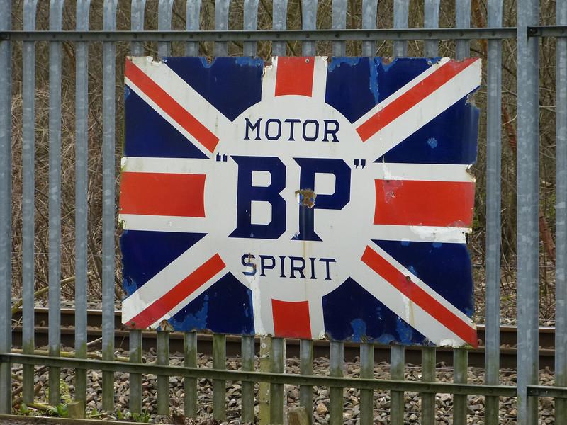 BP Motor Spirit - Oxford Bus Museum 130327
