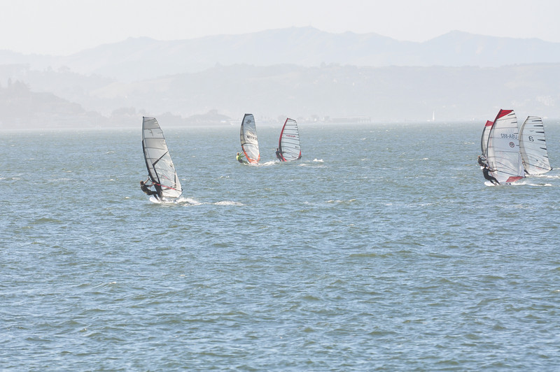 Upwind after the start