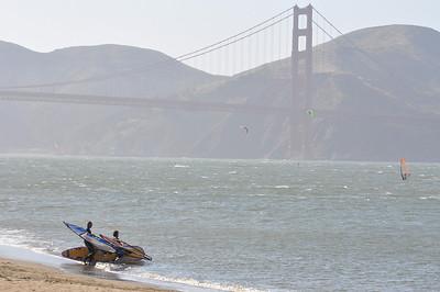 Tandem Windsurfing San Francisco 4-26-09