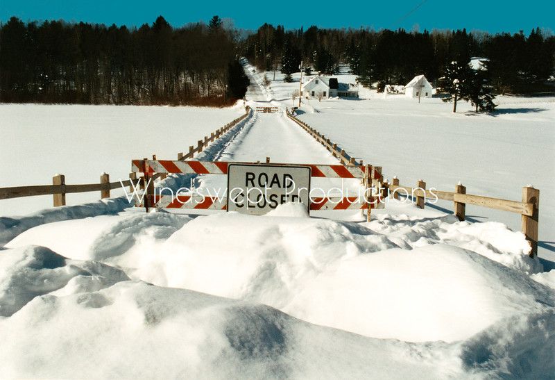 """Road Closed"" (Brookfield Floating Bridge)"