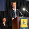 Axel Getz '14, the alumni speaker at The Windward School's 2018 Graduation & Recognition Ceremony, delivers the annual commencement speech.