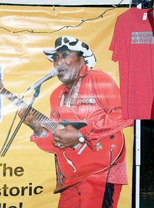 Look who's on the banner at one of the booths at the fest! Our own Eddy Clearwater, who played at one of the previous fests and clearly made a lasting impression.