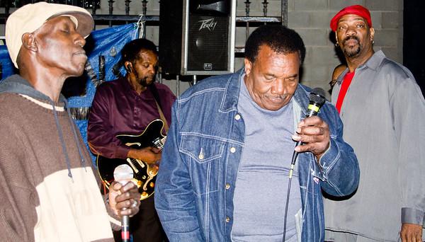 (l-r) Larry Taylor, Tony Brown, Willie Buck and KoolAid © Murphy Media/Karen Murphy