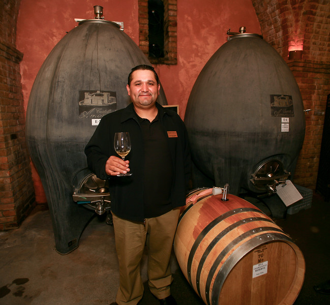 Cellar Master Josemaria Delgado shares our 2014 Chardonnays from the barrel and concrete egg