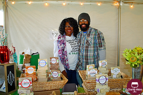 This nice couple sells homemade soap.