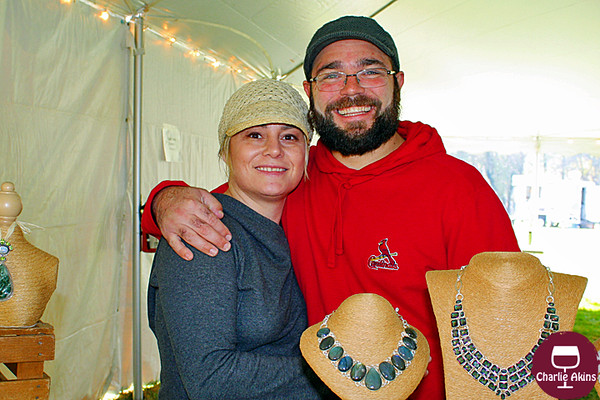 This couple sells jewelry.