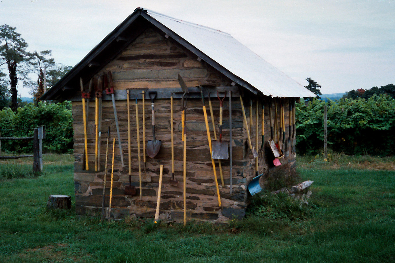 Tool shed, West Park Winery, Hudson Valley, New York state, c.1987