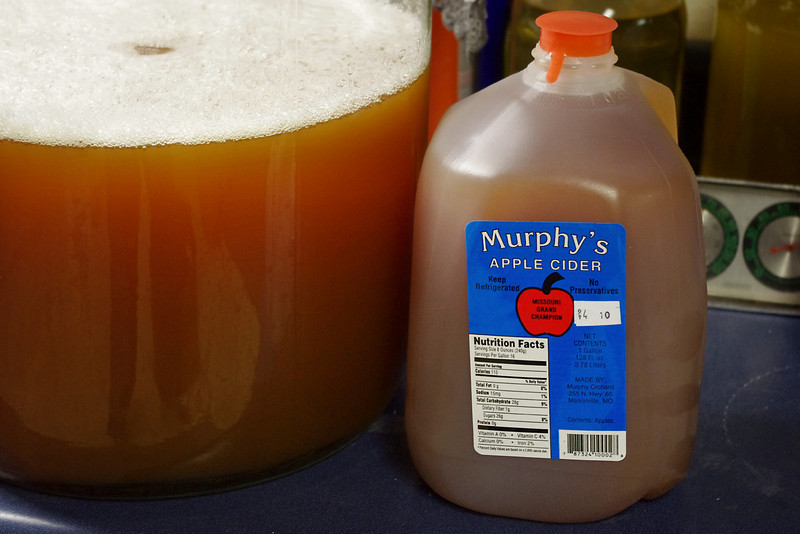 "Murphy's Apple Cider. You can see the color of the cider better. Not that it matters. <br /> <br /> Notice the contents - ""Apples"" - one ingredient. I like that!"