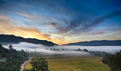 Fog over Calistoga