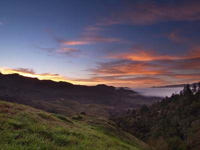 The Valley of Wine and Fog - extreme north end of Napa Valley