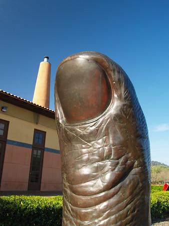Sculpture at Clos Pegas Winery, Calistoga Calif. Napa Valley