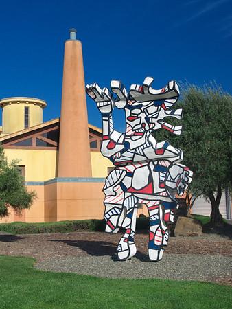 Sculpture at Clos Pegas Winery
