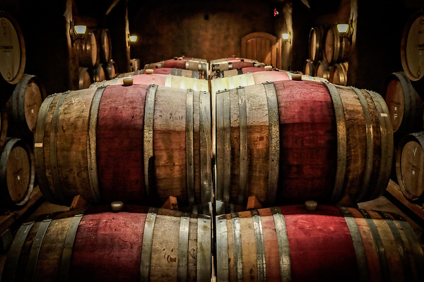 Wine Barrels - Trisaetum Winery, Dundee, OR