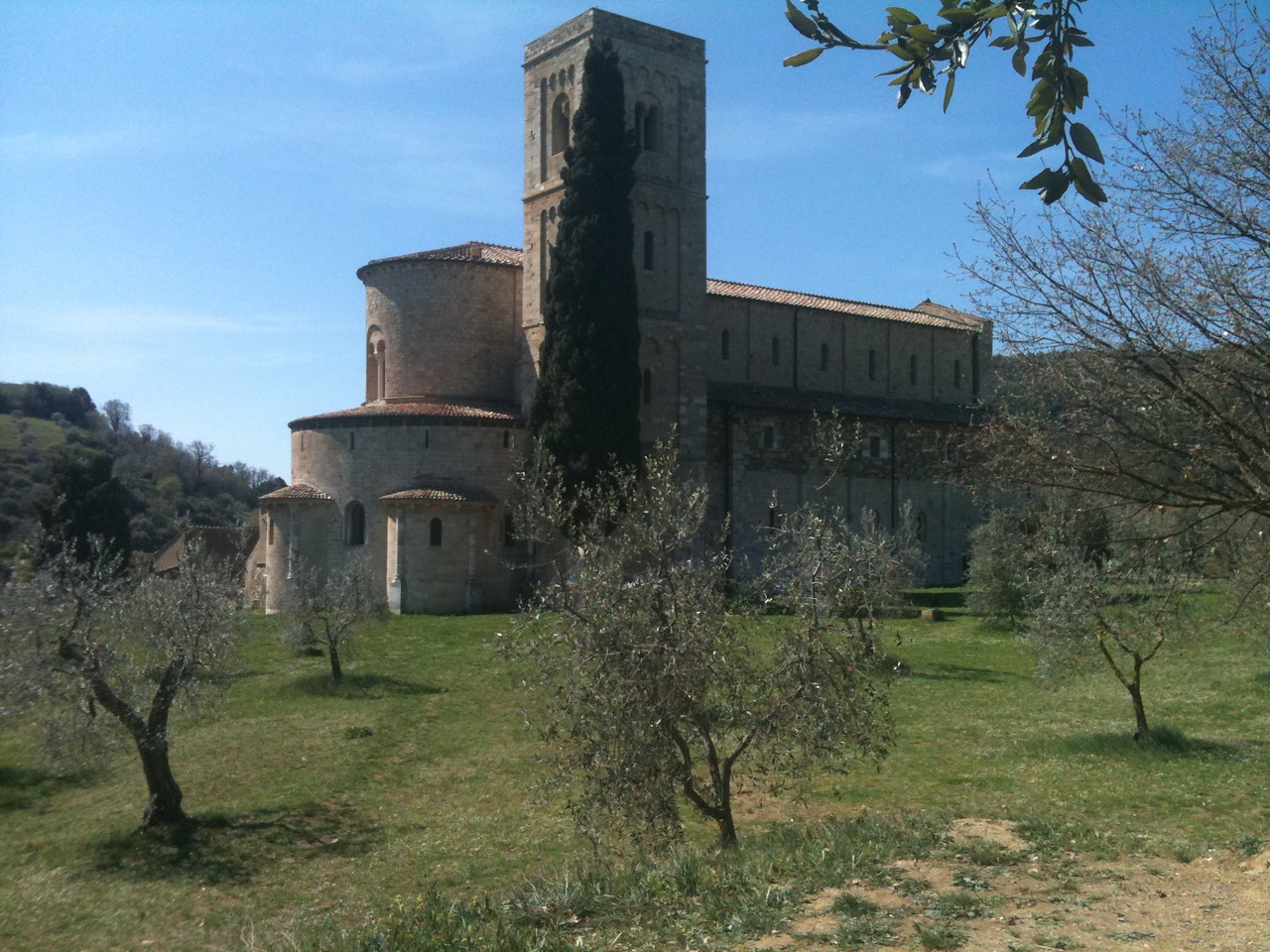 San't Antimo ~ the famous abbey where Gregorian chant still takes place.